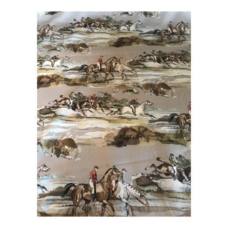 Lee Jofa/Mulberry Home Morning Gallop Linen Fabric - 4 Yards For Sale
