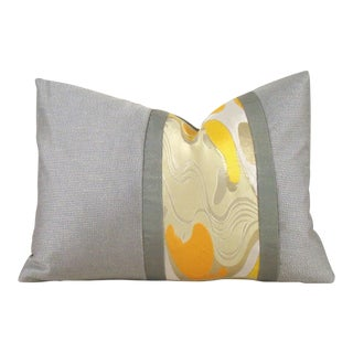 Japanese Silk Obi Abstract Pillow Cover