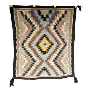 "Vintage Navajo Storm Pattern Design Rug - 2' 2"" X 2' 6"" For Sale"