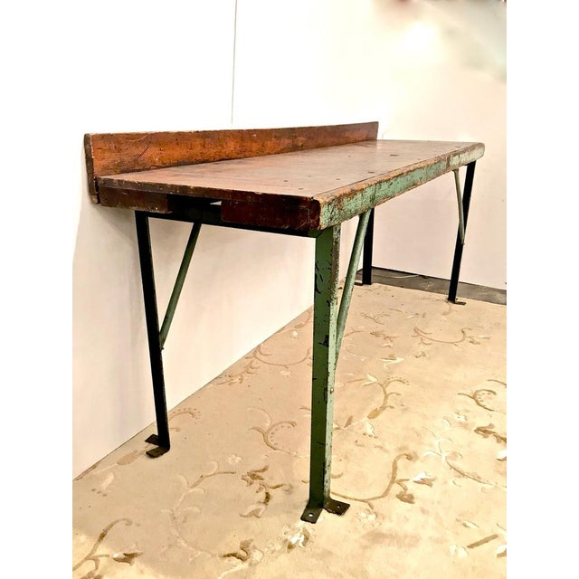Early 20th Century 20th Century Industrial Workbench or Console For Sale - Image 5 of 12