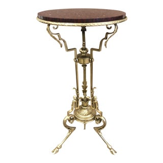 French Bronze and Marble Pedestal For Sale