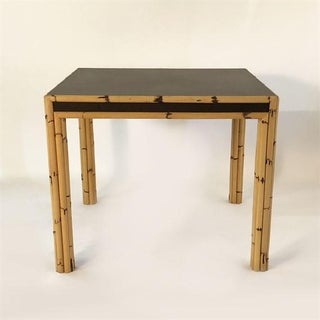 Bamboo Game Table With Mica Top, C. 1970 Preview