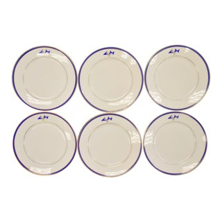 Vintage Mid-Century Beverly Ma Yacht Club Plates - Set of 6 For Sale