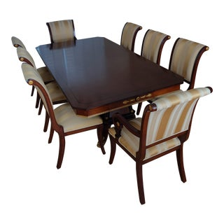 Versace/Italian Inspired Dining Table + 8 Chairs in Excellent Condition For Sale