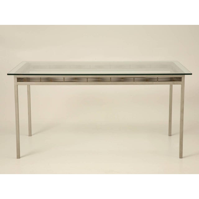 Originally designed for the outside, but commonly used inside as well, this stainless steel table will last a lifetime....