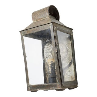 Early 19th Century Painted Metal Wall Lantern For Sale
