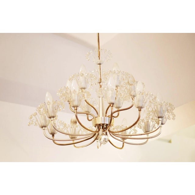 Mid-Century Modern Large Mid Century Chandelier by Emil Stejnar for Rupert Nikoll For Sale - Image 3 of 9