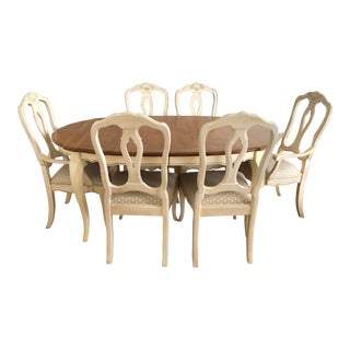 Ethan Allen Country French Dining Set - 7 Pieces For Sale