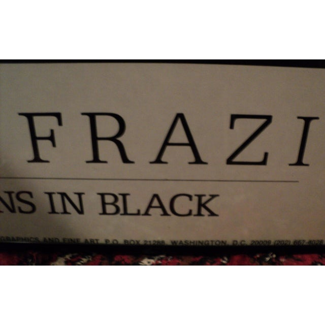 """Large African American Frank Frazier """"Visions in Black """" Lithograph Poster For Sale In Philadelphia - Image 6 of 9"""