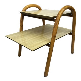 20th Century Boho Chic j.b. Van Sciver Co. Rattan End Table For Sale
