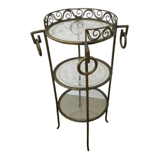 French Bronze and Glass Gueridon For Sale