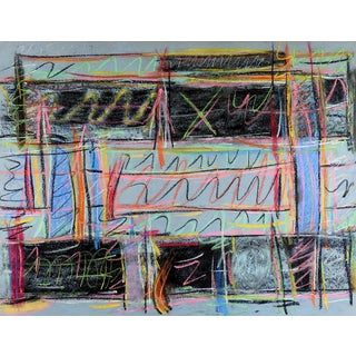 Graffiti Abstract Pastel Painting For Sale
