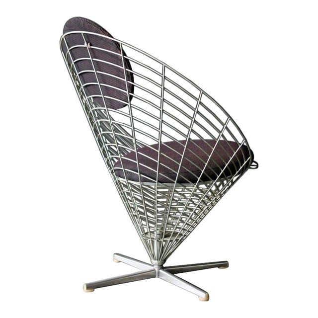 Wire Cone Lounge Chair by Verner Panton for Plus Ligne For Sale
