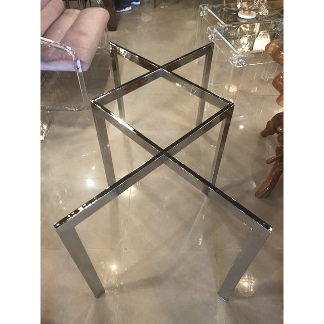 Vintage Milo Baughman Thayer Coggin Chrome Dining Table For Sale - Image 11 of 11