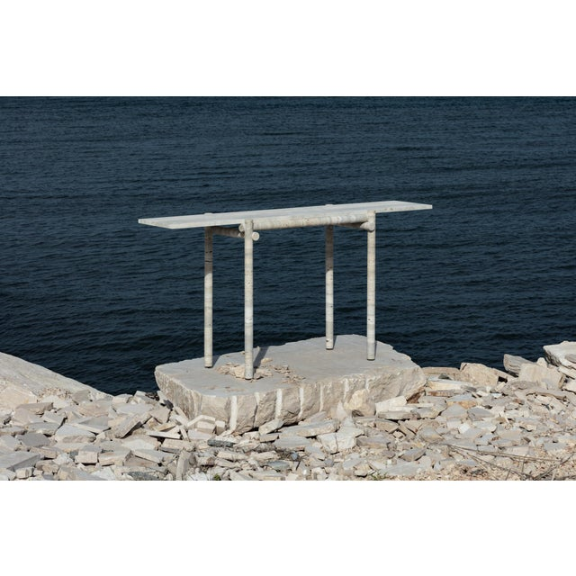 Stone Original Ocean Travertine Console by Clement Brazille For Sale - Image 7 of 13