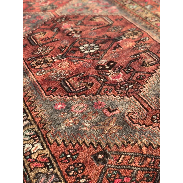1940s Vintage Persian Hosenibad Runner Rug - 3′7″ × 10′2″ For Sale - Image 9 of 12