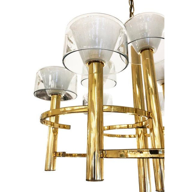 Gaetano Sciolari Brass Ceiling Light For Sale In New York - Image 6 of 9