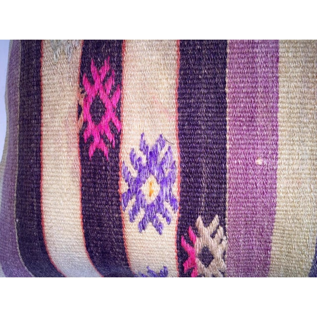 Boho Chic Turkish Handmade Kilim Pillow Cover For Sale - Image 3 of 5