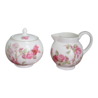 English Aynsley Cream & Sugar - a Pair For Sale