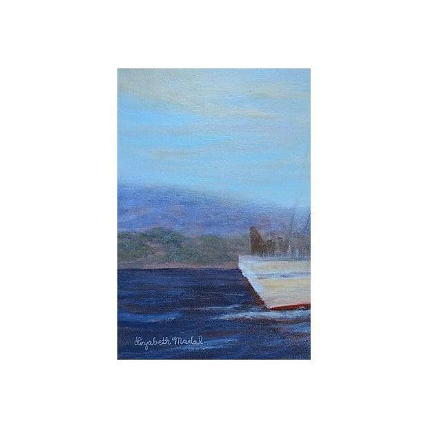 Irving Johnson, Santa Barbara Seascape Painting - Image 3 of 3