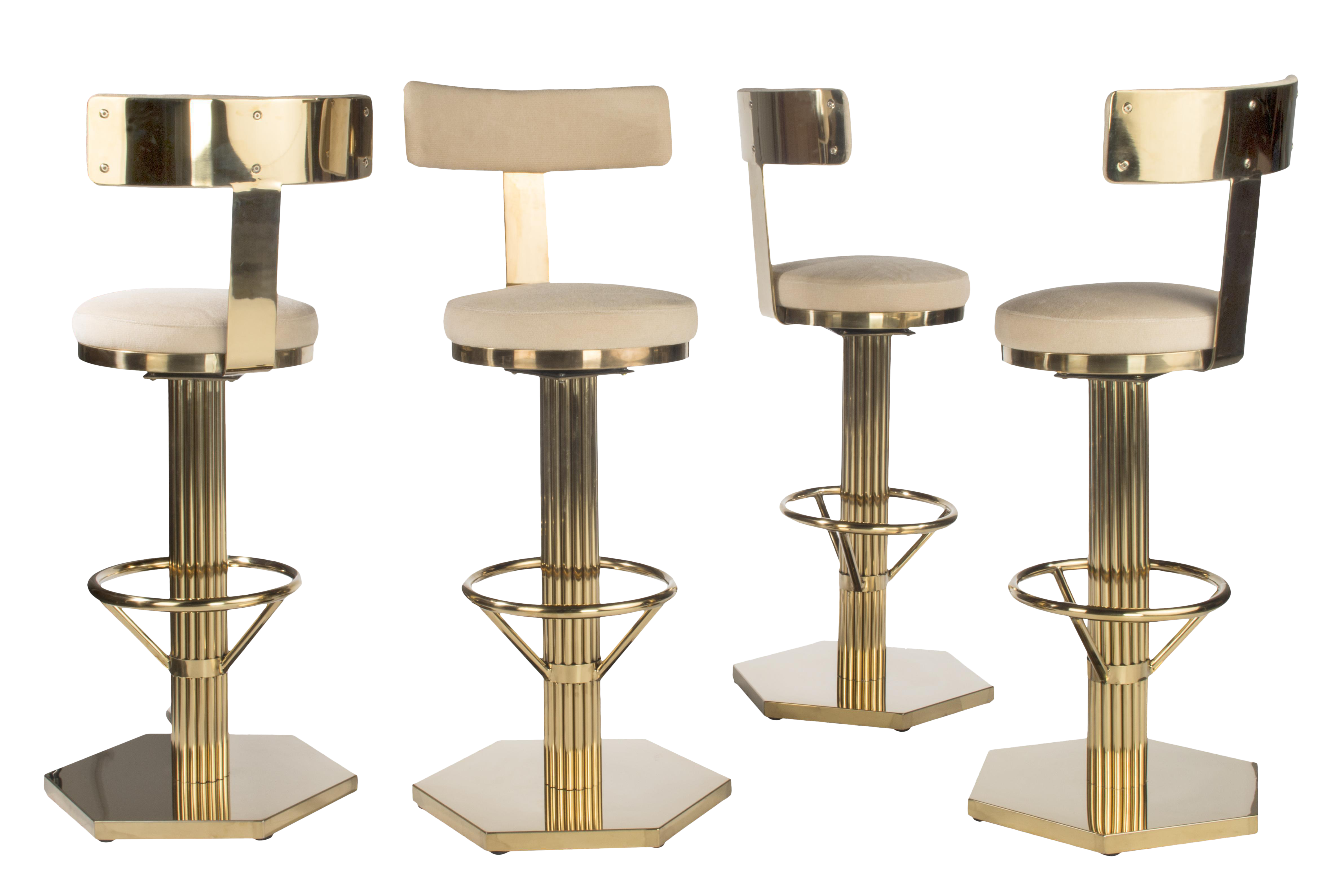 hollywood regency style furniture. Plain Furniture 2010s Hollywood Regency Style Gold Bar Chairs  Set Of 4 For Sale Image 5 Throughout Hollywood Regency Style Furniture