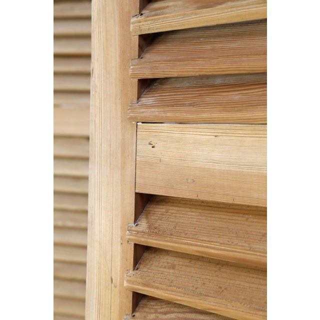Wood Set of Six Vintage French Shutters For Sale - Image 7 of 13