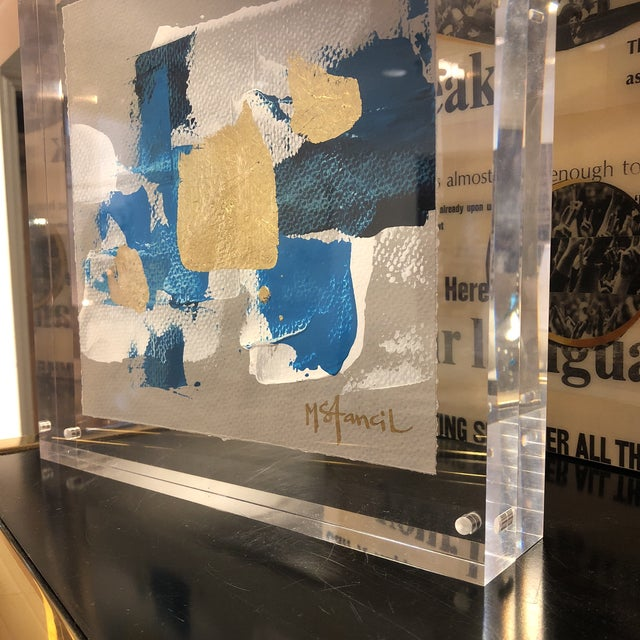 Original Art Floating in Lucite For Sale - Image 12 of 13