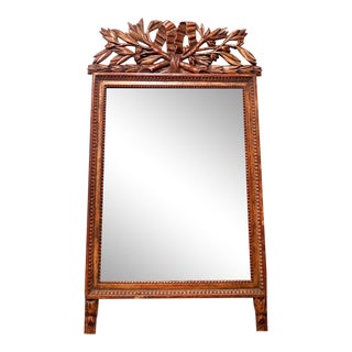 French Provincial Louis XVI Period Giltwood Mirror With Original Mirror Plate For Sale