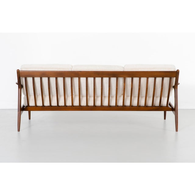Mid-Century Modern Ib Kofod-Larsen for Selig Teak Wood Sofa For Sale - Image 3 of 13