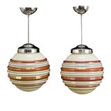 Image of 1930 Art Deco Ceiling Lights - a Pair For Sale
