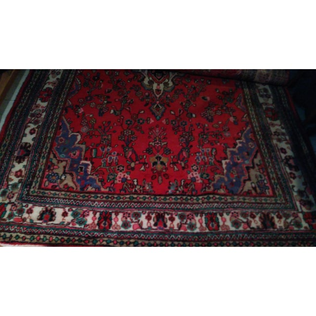 Hand Knotted Persian Area Rug - 5'11 x 10'3 - Image 10 of 11