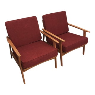 Vintage Mid Century Armchairs - a Pair For Sale