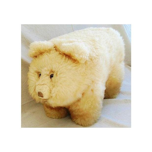 Vintage Lambswool Bear Ottoman - Image 4 of 8
