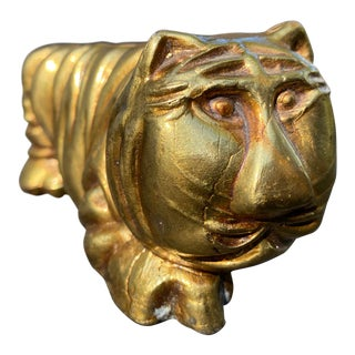20th Century Brass Tiger Figure For Sale