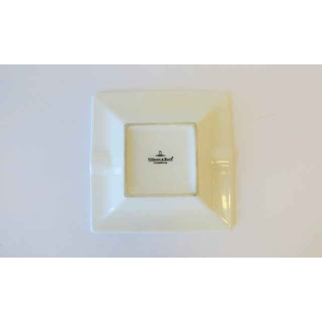 Ceramic French White and Gold Porcelain Dish or Ashtray For Sale - Image 7 of 8