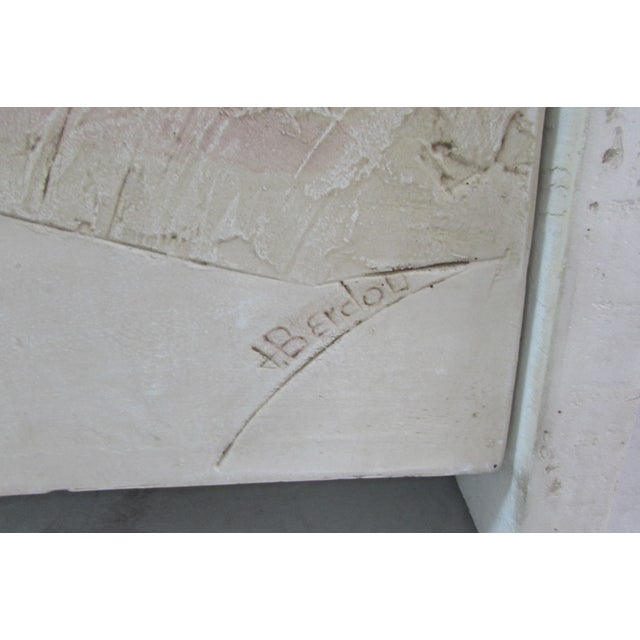 1980's Bass Relief Plaster Cabinet by Bardol - Image 4 of 5