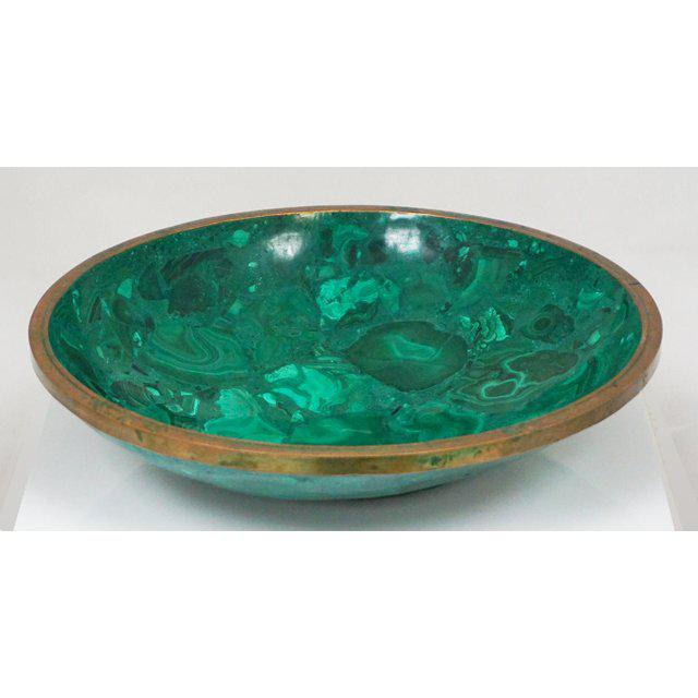 Large Malachite Bowl For Sale In Palm Springs - Image 6 of 7