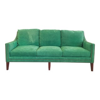 Modern New Thibaut Kelly Green Manuel Canovas Chenille Fabric Sofa For Sale