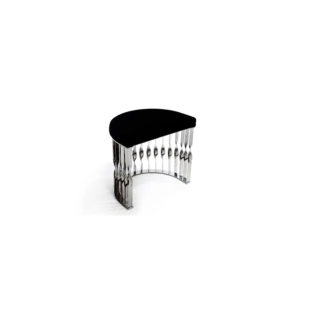 Black Mandy Stool From Covet Paris For Sale - Image 8 of 13