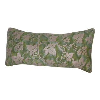 Green Fortuny Fabric Pillow For Sale