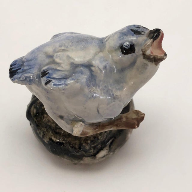 Hand Sculpted Ceramic Baby Bluebird Figurine For Sale - Image 11 of 12