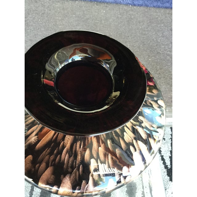 Modern Italian Modern Glass and Copper Dust Vase For Sale - Image 3 of 6