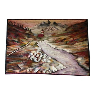 Handwoven Tapestry of Polish Landscape For Sale
