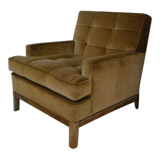 1940's Velvet Tommi Parzinger Armchair For Sale