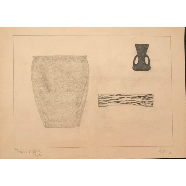 Illustration 1963 Mid-Century Modern Drawing by Phyllis Myrick For Sale - Image 3 of 3