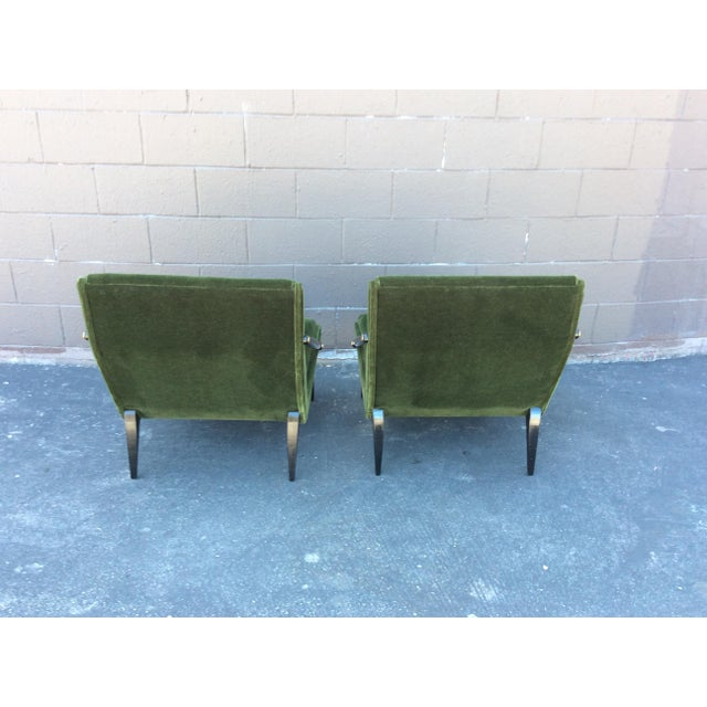 Mid-Century Mohair Side Chairs- A Pair For Sale - Image 4 of 7