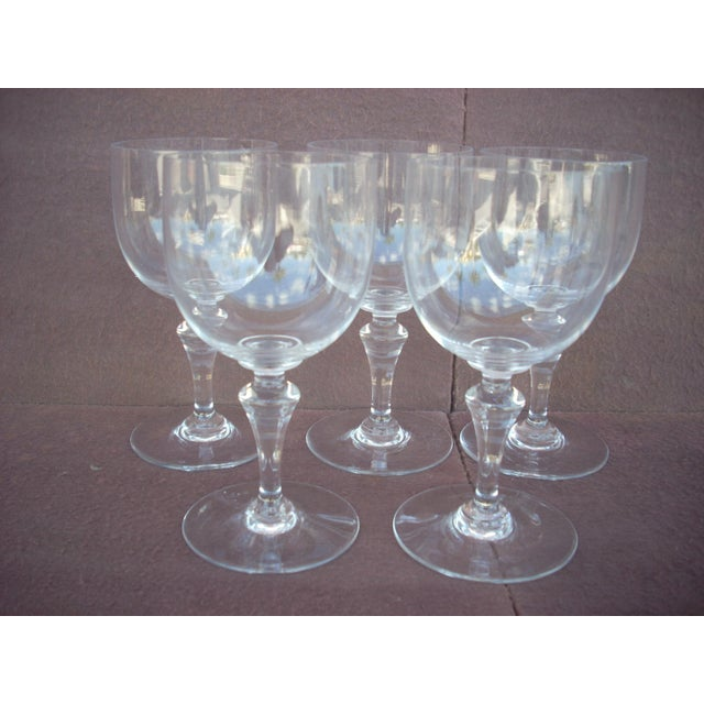 Baccarat French Baccarat Crystal Red Wine Stem Glass For Sale - Image 4 of 5
