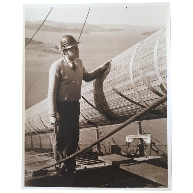 Vintage Photo Golden Gate Bridge Construction - Image 1 of 4