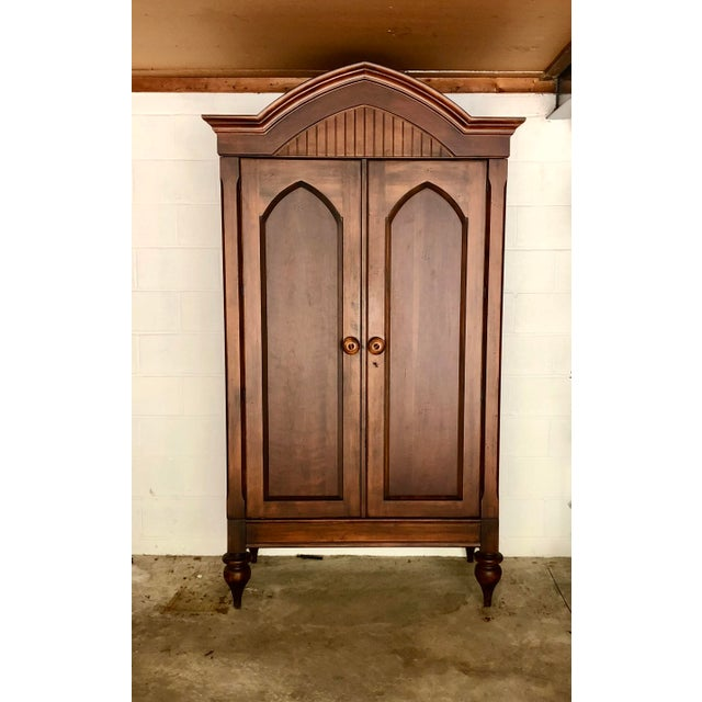 Jim Peed for Romweber Rustic Hardwood Armoire For Sale - Image 13 of 13