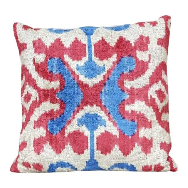 Silk Velvet Accent Pillow For Sale